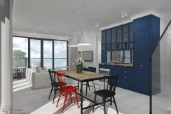 Apartament dwupoziomowy przy plaży z dużymi tarasami- REZERWACJA