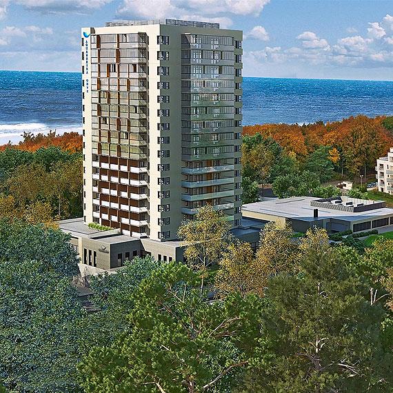 Apartament z widokiem na morze w nowej inwestycji