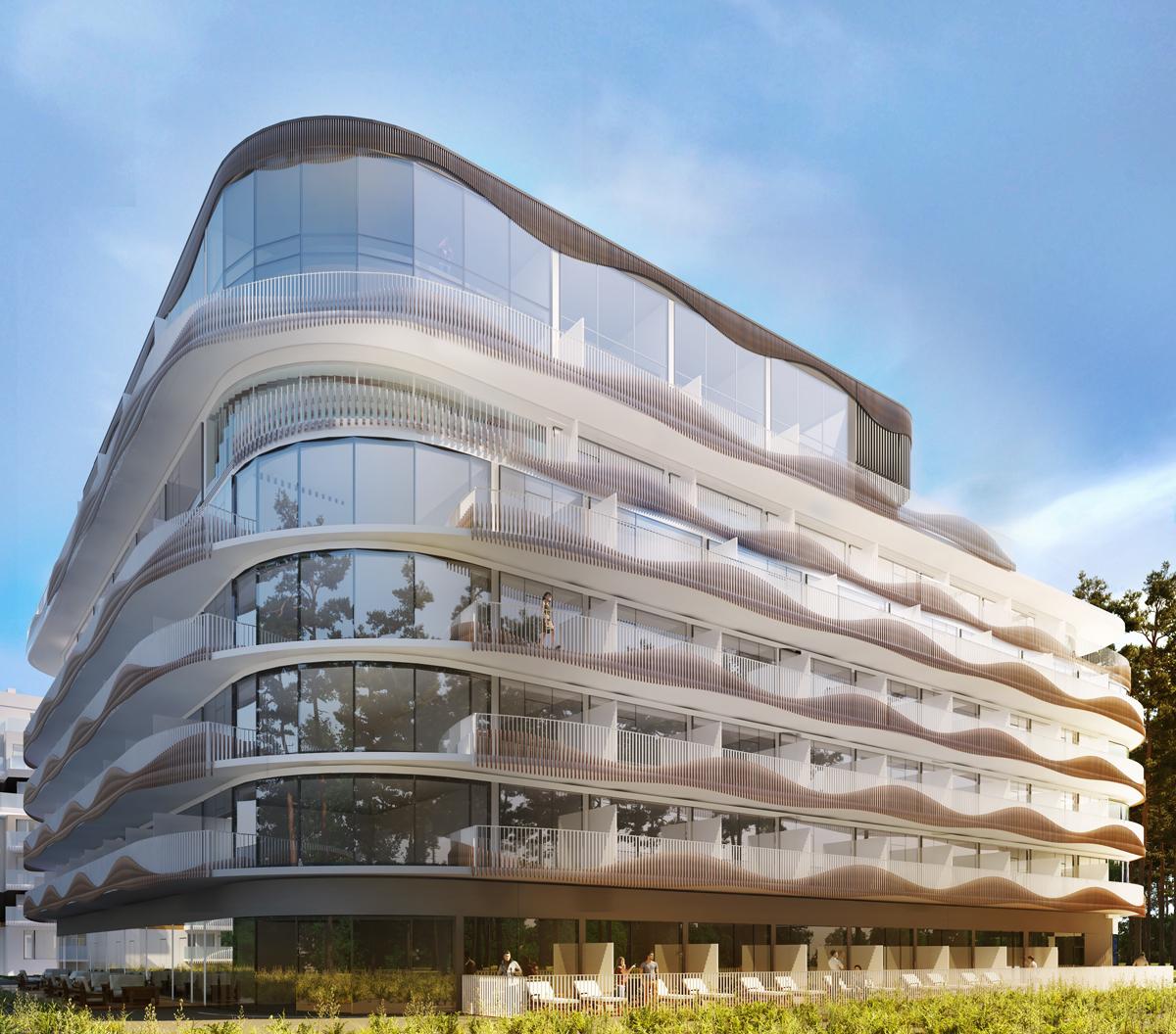Apartament w pierwszej lini zabudowy z widokiem na morze